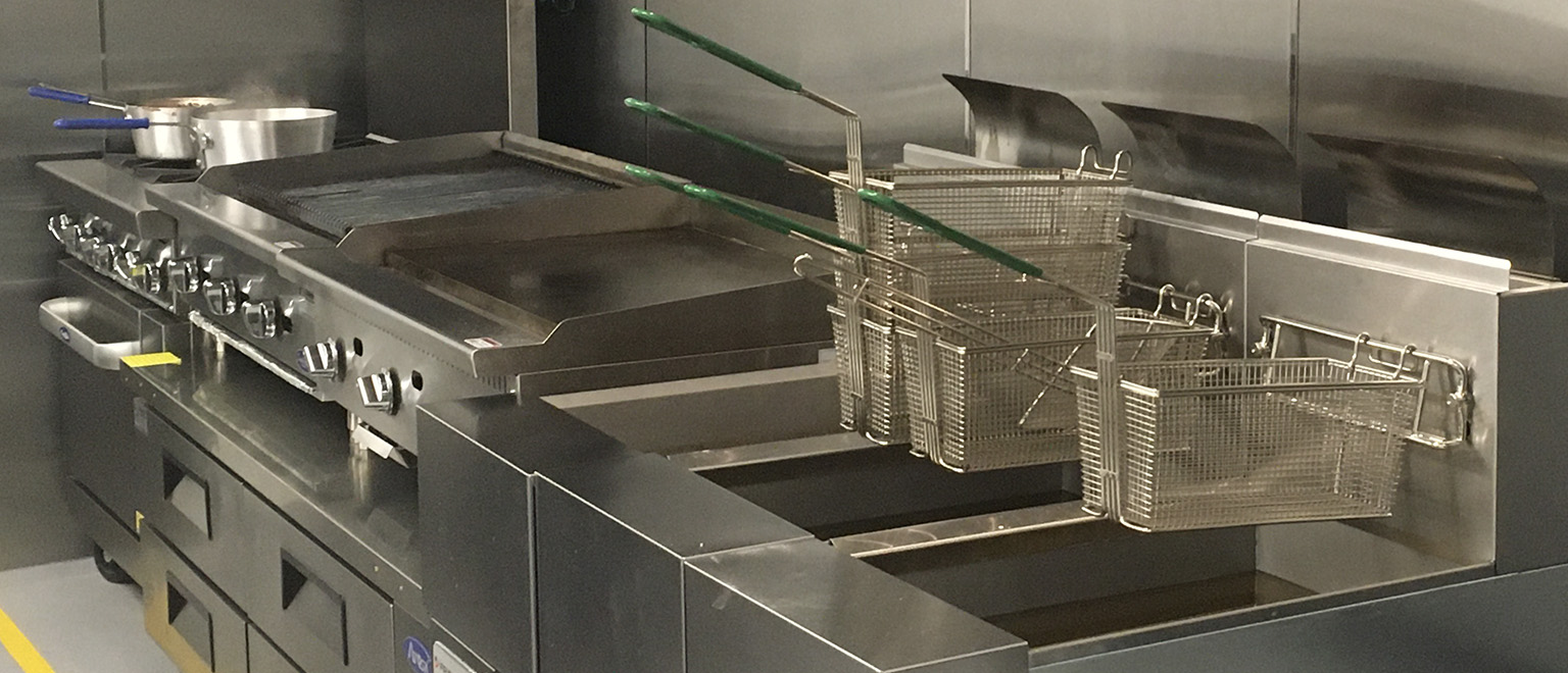 Commercial Kitchen Fry Station