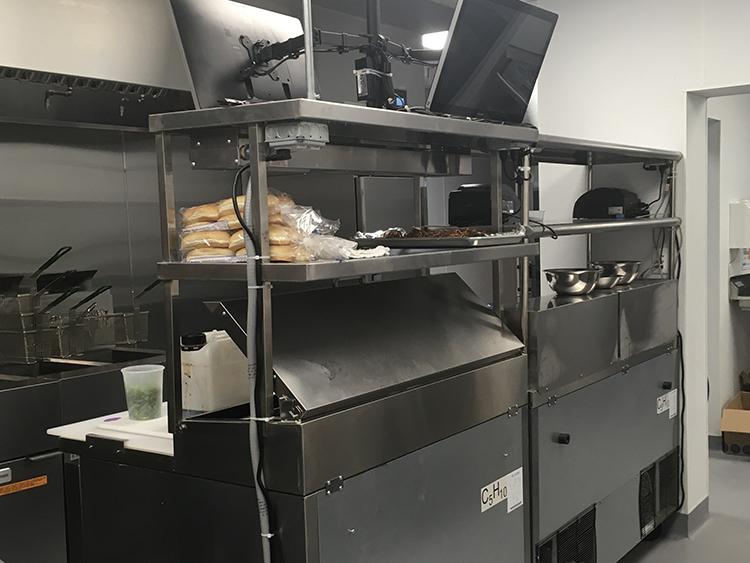 sandwich prep station